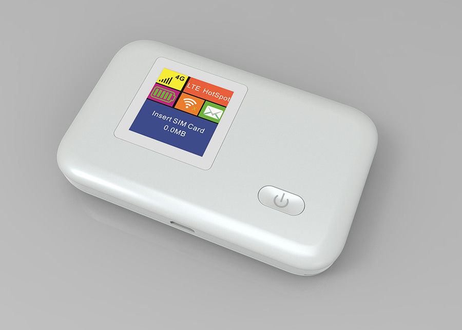 White Wireless Lte 4g Wifi Hotspot Device With Ce Rohs Certification
